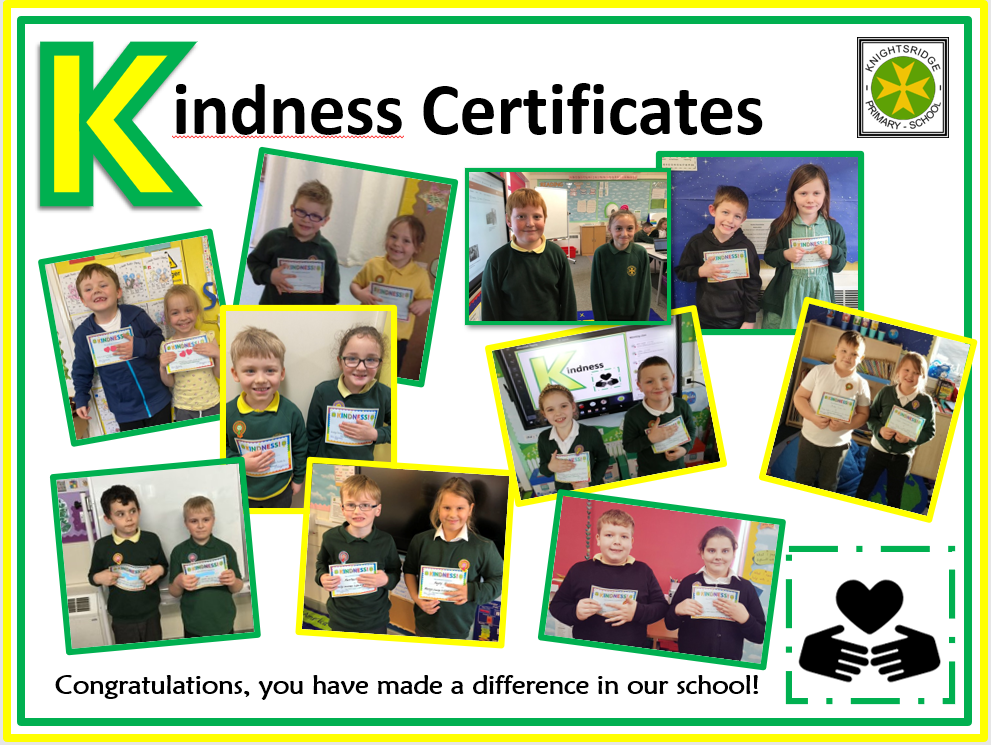 Kindness Certificate Winners - November 2020