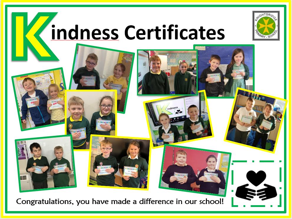 Kindness Certificate Winners - November 2020