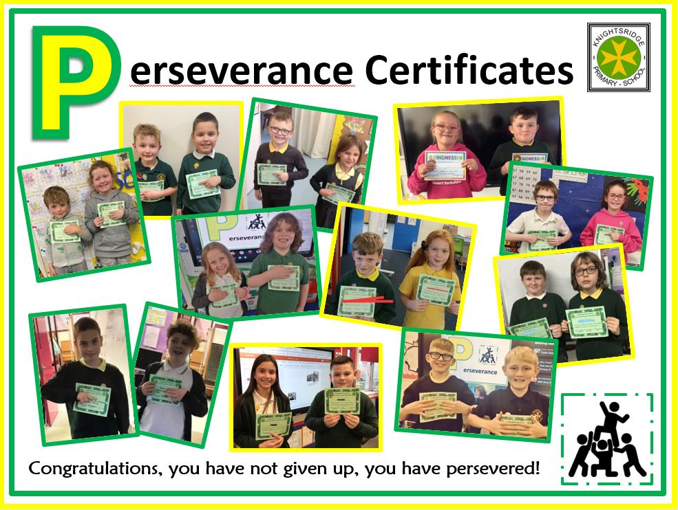 Perseverance Certificate Winners - November 2020