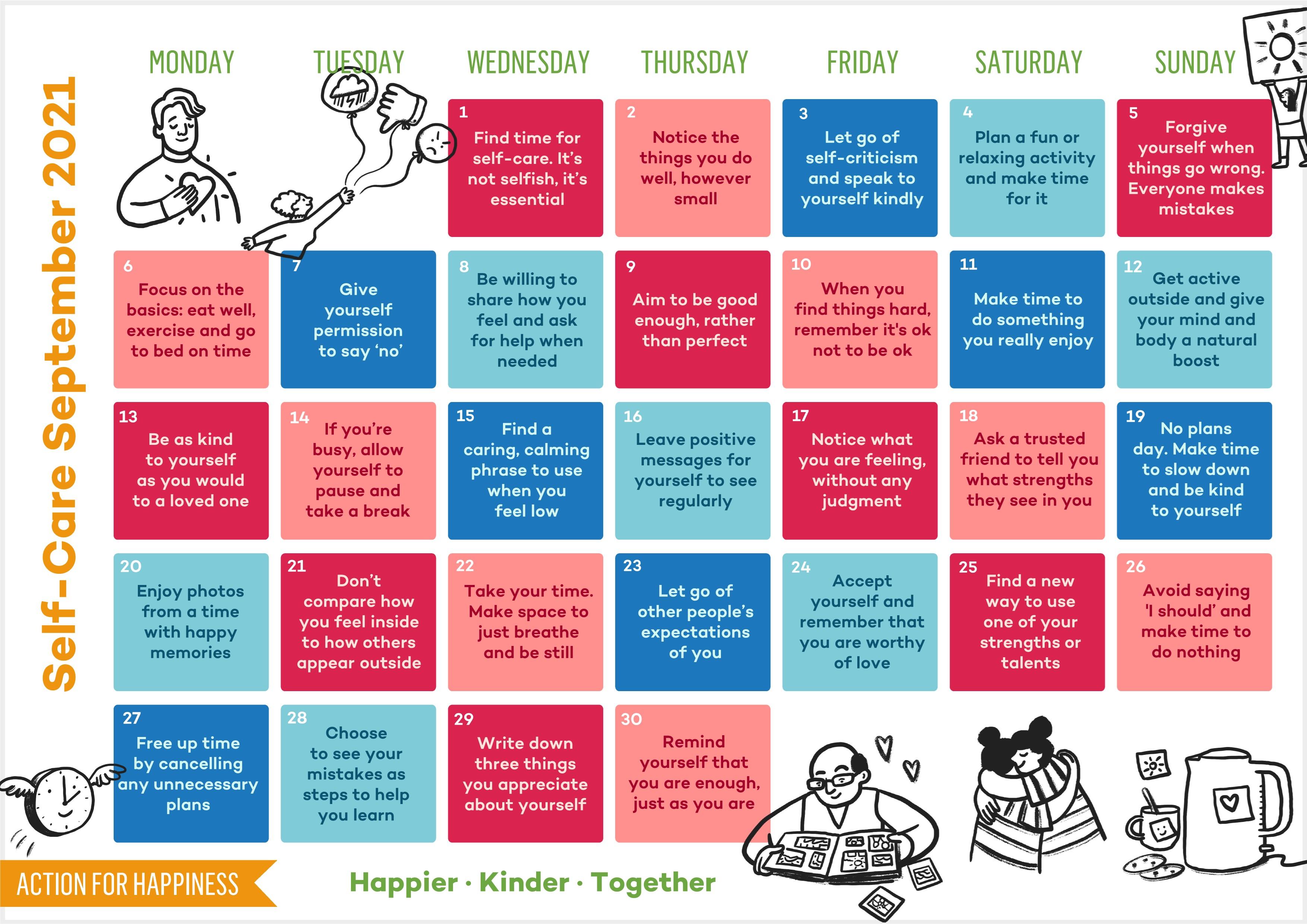 Coping Calendar - September 2021